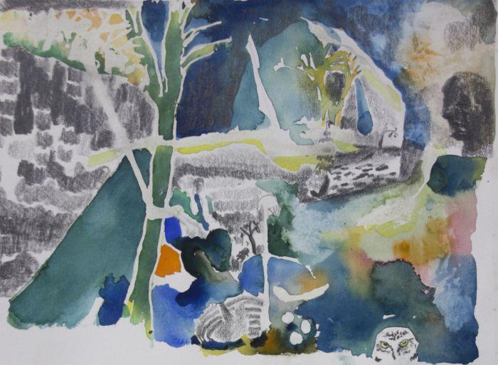 10-mag-parloir-celeste-premiere-etude-aquarelle-gouache-et-graphite-sur-papier-30-x-40-cm-2016-bd-691c61d2b50deb89092027aef59d3d8c