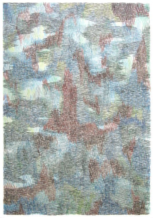 armelle-de-sainte-marie-forest-tram-2013-gouache-et-encre-sur-papier112x77cm-4e9b5be94676d6507b77b04689194967