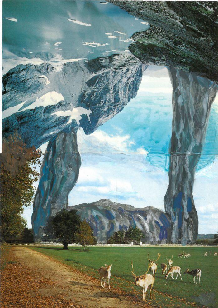 pierre-ardouvin-etudes-pour-ecrans-de-veille-9-19-2013-2014-cartes-postales-assemblees-et-peinture-acrylique-15x21cm-5e34b9ffbb7ca59d07a68cc6bf2856d6