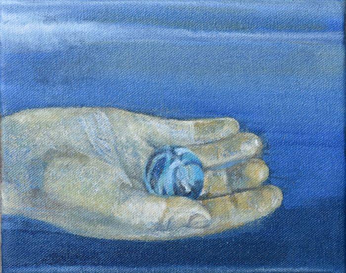 il-main-bleue-bille_huile-sur-toile_14x18-cm_2018-78f35bf360a931ab8bdef881260820a7