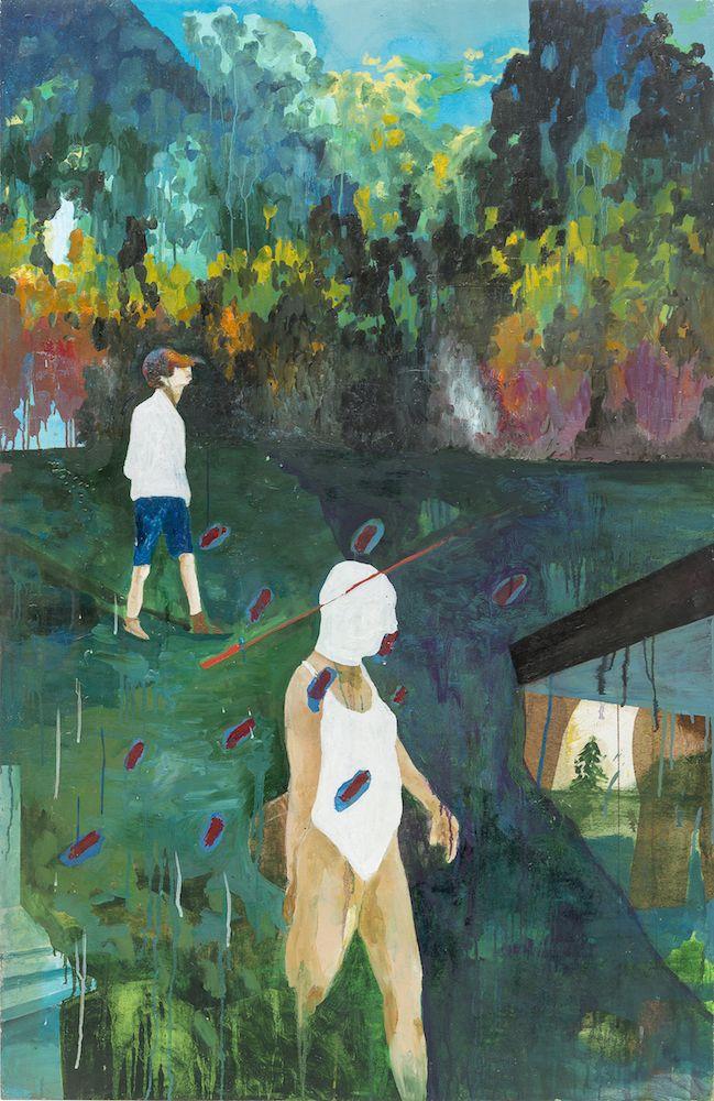 marie-anita-gaube-rainbow-walk-2013-huile-sur-panneau-bois-153x-100-958bdd253acfb8693d4060d8100be215